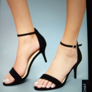Lulu's black heels with ankle strap